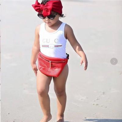 best selling Luxury Designer Kids Swimsuits One Pieces Summer Beach Swimming Swimwear Swimsuit For Girl Bathing Suit