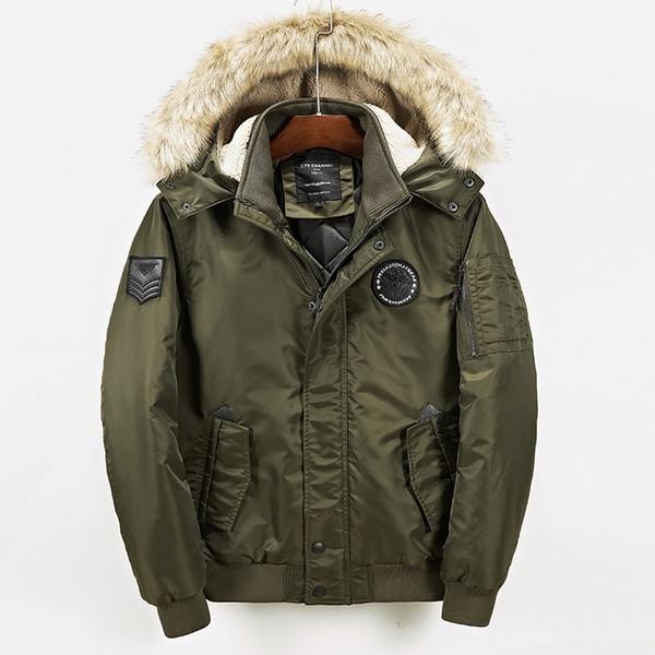 2018 neue Verkauf Mens Mantel Trenchcoat Männer Europa und die Männer tragen Mao Winter Baumwolle gefütterte Kleidung Mann langen Mantel