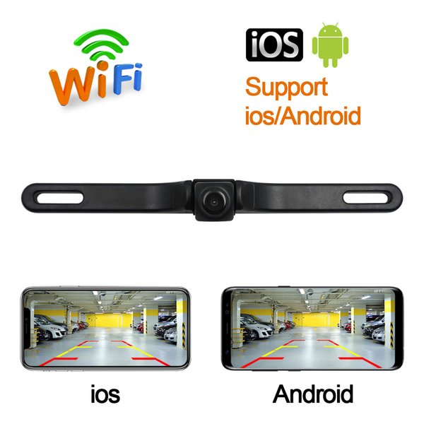 HD Waterproof License Plate wifi back up camera Auto Car Reverse Backup Parking Rearview Camera Night Vision 170 degree