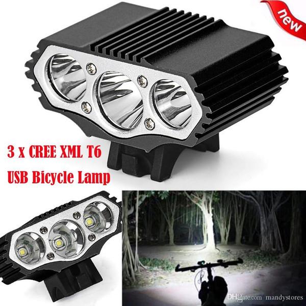 Gros- 12000 Lm 3 x T6 LED 3 Modes lampe vélo USB rechargeable Bike Light phares Accessoires vélo Cyclisme bicicleta H0046