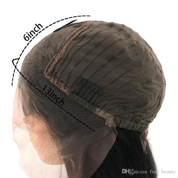 13 * 6 peluca del frente del cordón