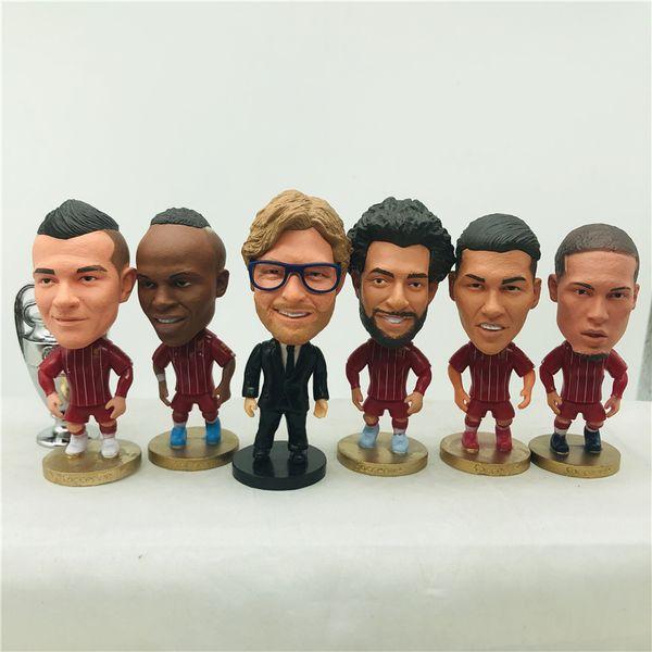 best selling Soccerwe Klopp Salah Mane Firmino Shaqiri Gerrard Torres Van Dijk Doll Soccer Star 6.5 cm Height Children Toy Birthday Gift 2020 Champion