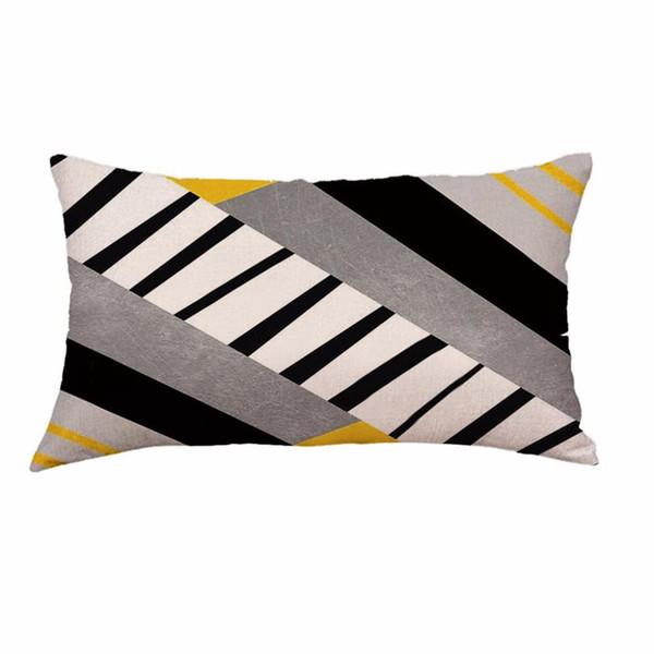 Super suave felpa corta geométrico almohada Sofá cama Juego de decoración del hogar W614