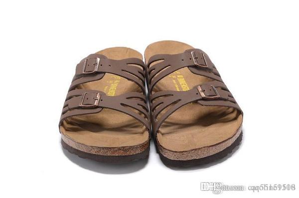 821 Arizona 2018 Venta caliente de verano Mujeres bowknot sandalias planas Zapatillas de corcho unisex zapatos casuales imprimir colores mezclados tamaño 35-41