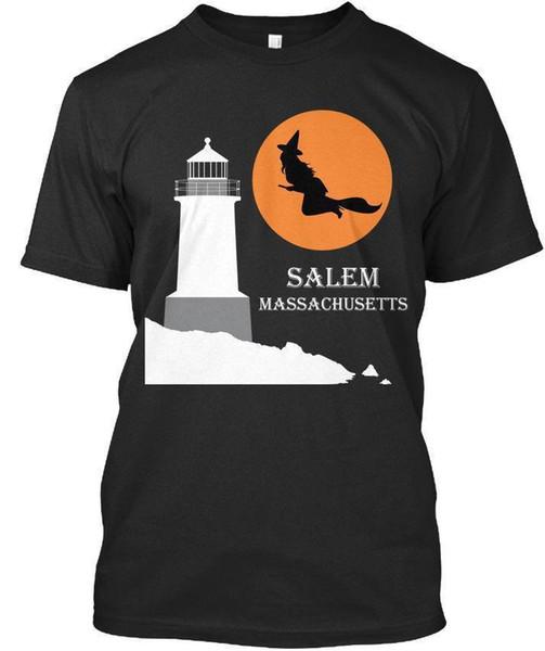 Salem, Ma- Hexe fliegt über helles Haus Premium T-Shirt