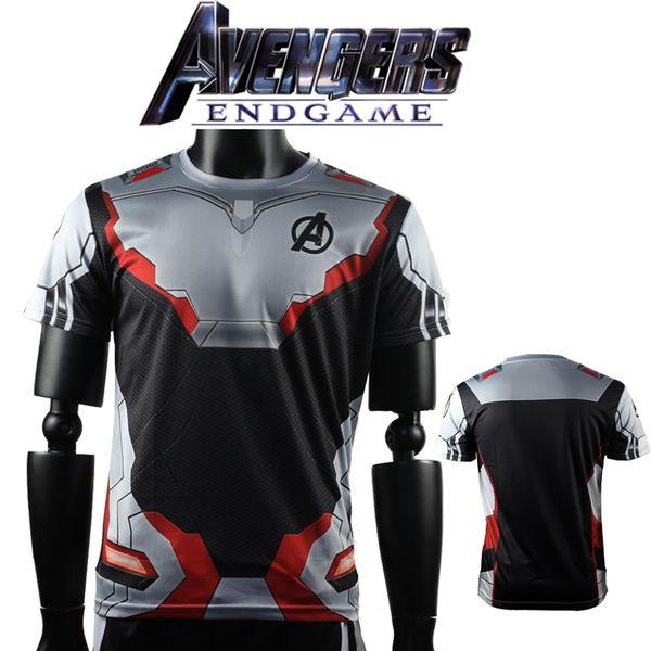 3d Avengers Endgame Realm Cosplay T-shirt Iron Man Marvel Captain America Black Widow Costume Sport Tight Tees Dropship Q190518