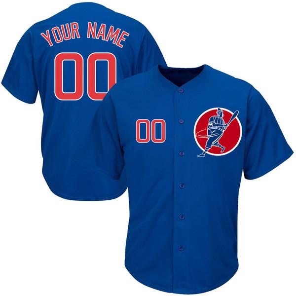 Personalizado Mens Baseball Jerseys Qualquer Nome Qualquer Número Bordado Costurado Camisas Personalizadas Personalizado Barato Loja Online B023