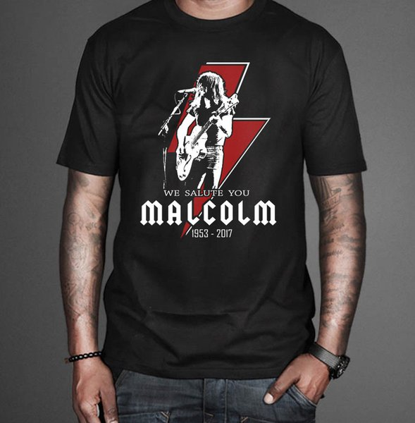 Malcolm Young Tribute T-shirt Rock Tee