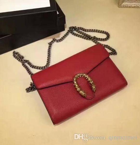 Tek omuz çanta ile zarf Lüks markalı Dionys zincir omuz çantaları crossbody lady zincir Kapak Satchel Çanta