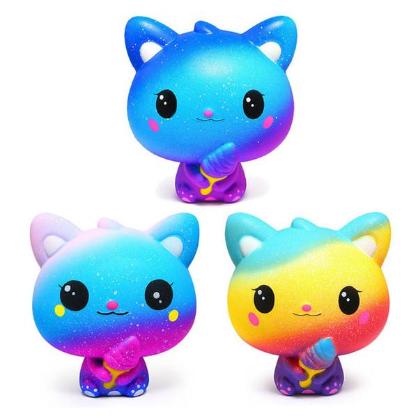 Squishy Yavaş Yükselen Oyuncak Galaxy Dondurma Ekmek Bun Kek Tatlı Charm Kokulu Çocuk Eğlenceli Oyuncak Hediye Toptan Anti-stres Çocuklar Squish Oyuncaklar