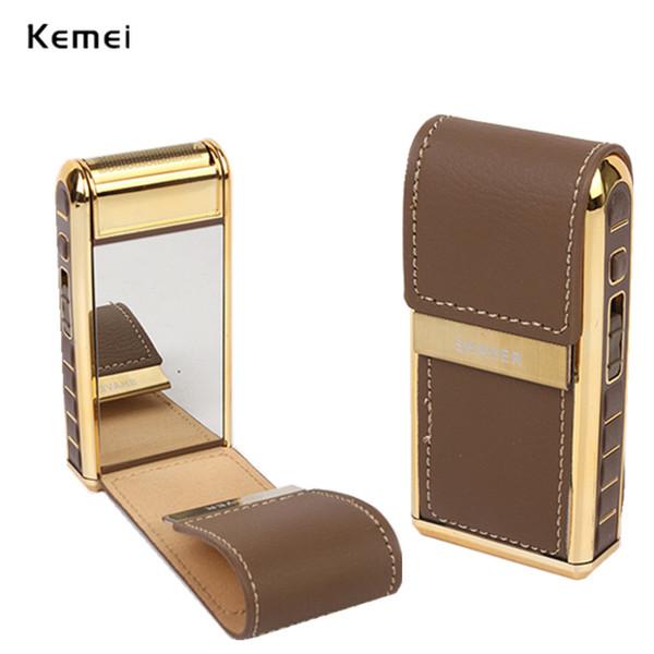 Mini portatile rasoio elettrico il prodotto ideale per la corsa della cassa del cuoio rasatura macchina Con Specchio ricaricabile rasoio elettrico