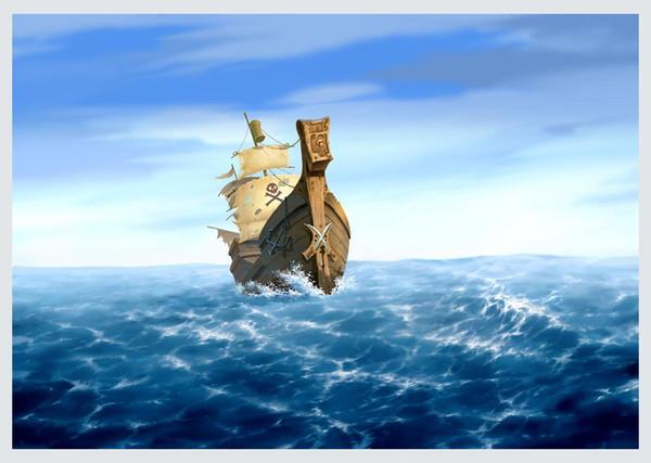 Melhor presente Fantasia Piratas Navio Barco Sailing Seascape Oil Painting Imagem Impresso Na Lona Sala de estar Quarto Wall Art Home Decor Ship11