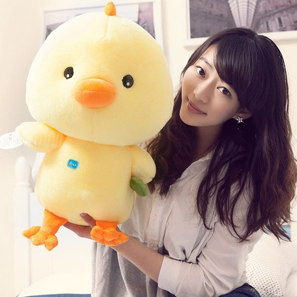 20170723 Hot Sales Super Cute Yellow Chicken Stuffed Animal Soft Plush Toys Creative Gifts For Free Shipping