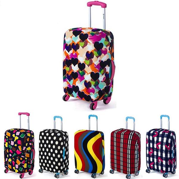 Envío de la gota Viaje en el camino Cubierta de equipaje Cubierta protectora de maleta Maleta de viaje Cubierta de polvo para equipaje de viaje Para 18 a 30 pulgadas