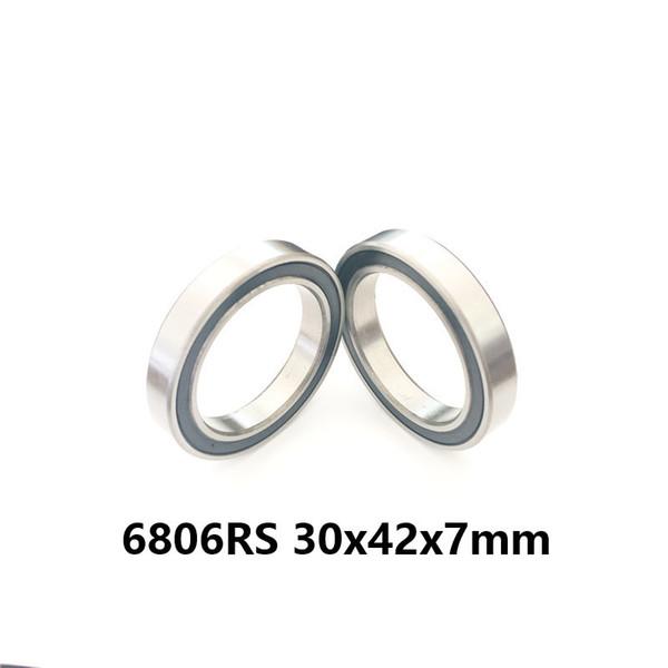 Rodamiento 6806-2RS ABEC-1 (10PCS) 30x42x7 mm Sección delgada 6806 Rodamientos de bolas 2RS 6806RS 61806 RS 30 * 42 * 7 MM
