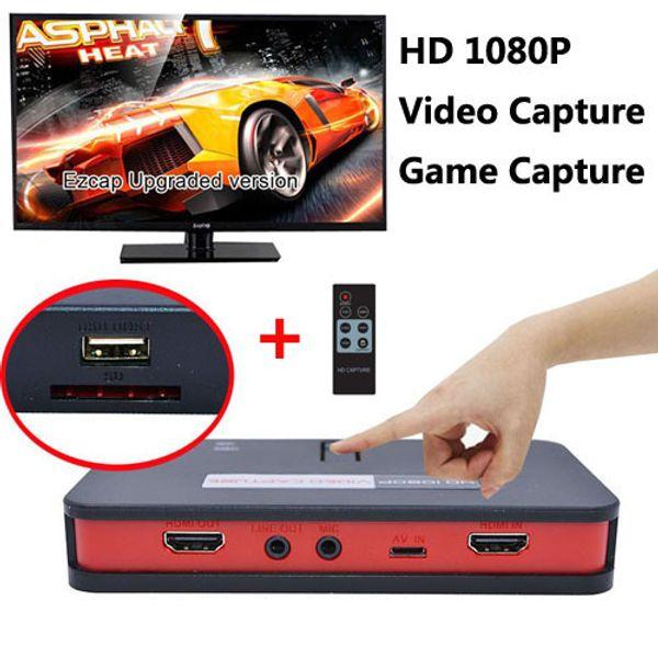 HD 1080 P Captura De Vídeo EZCAP 284 Controle Remoto HD Jogo de Captura AV / HDMI / YPbPr Gravador Para Xbox 360 / PS3 PS4 / WiiU