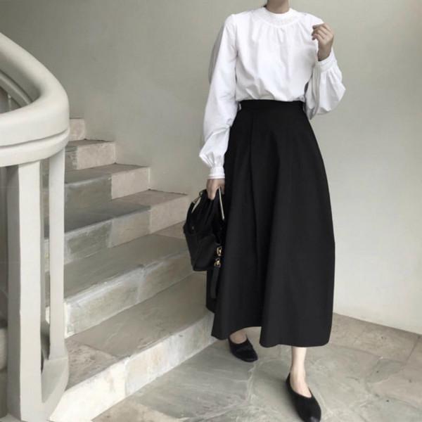 Para mujer Blusas Blancas Señoras Tops Puff Mangas Stand Collar Ruffle Pullover Más Tamaño Elegante Chemisier Femme Camiseta Mujer