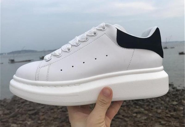 NEW fashion men designer shoes top real leather designer trendy sneakers women Open beautiful best shoes for sale size 36-45