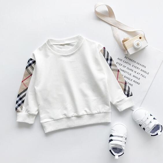 Kids Clothes Autumn Girls Sweatshirt Brand tag Loose Pullover Shirt Tops College Style Splice Boys Sweatshirt Children Clothing