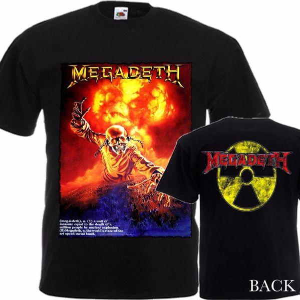 New Summer Style Rundhalsausschnitt Kurz Megadeth Radioactive Size-S / 4Xl Büro T-Shirt für Männer