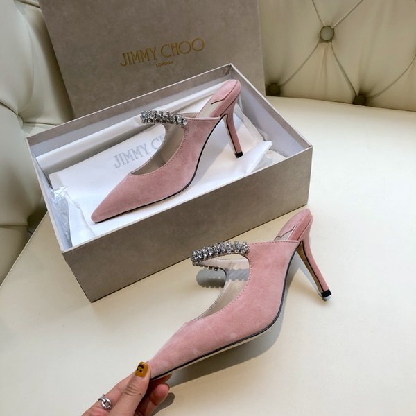 2019 new spring new classic classic high-class elegant evening shoes elegant ladies high heel leather women high heel sandals
