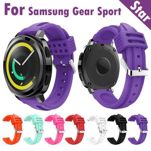 20mm pulseira de relógio 2018 nova moda esportes silicone suave substituição pulseira pulseira de pulso para samsung gear esporte