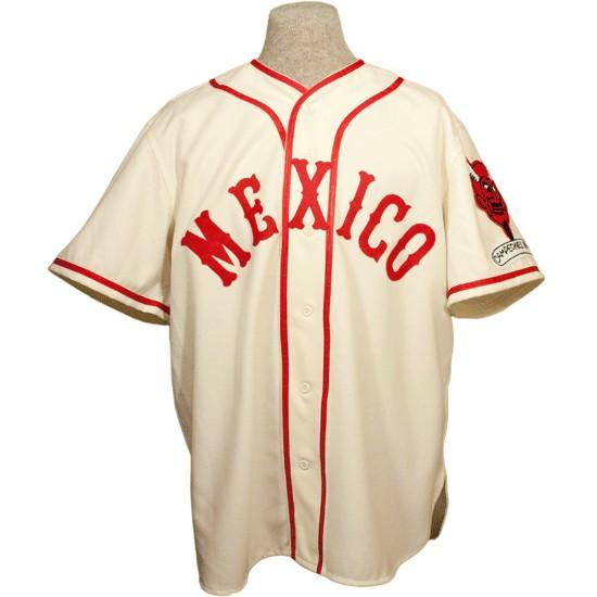 Mexico City Red Devils 1957 Home Jersey 100% brodé Logos de broderie Vintage Baseball Maillots Personnalisé Tout Nom N'importe quel Nombre Livraison Gratuite