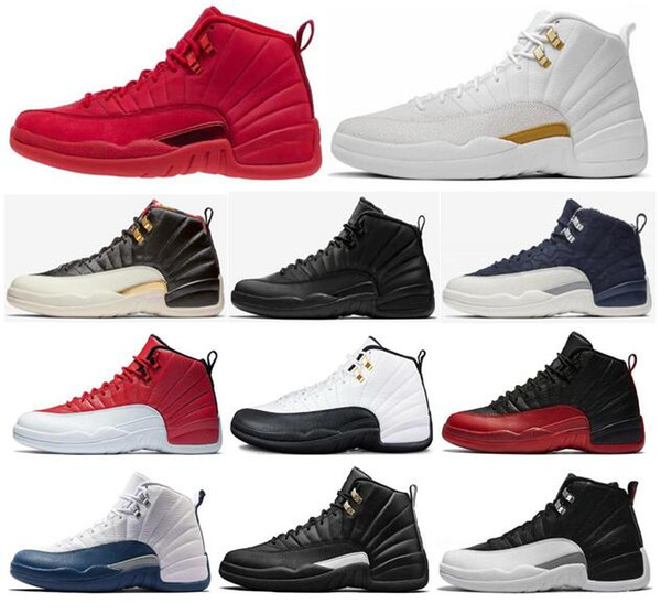 High Quality 12 12s OVO White Gym Red WNTR The Master Basketball Shoes Men Taxi Flu Game French Blue CNY Sneakers With Box