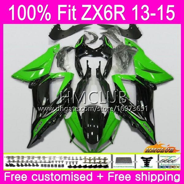 Injection For KAWASAKI NINJA ZX 6R ZX-636 ZX 6 R ZX6R 13 14 15 16 Green Glossy 53HM.15 ZX 636 600CC ZX636 ZX-6R 2013 2014 2015 2016 Fairing
