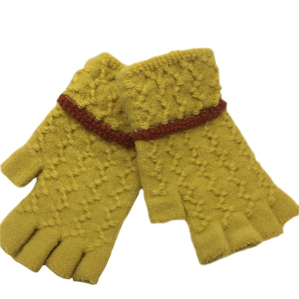Warm Gloves Half-Finger Non Slip Motorcycle Winter Riding Glove Lady Wool Skiing Mittens