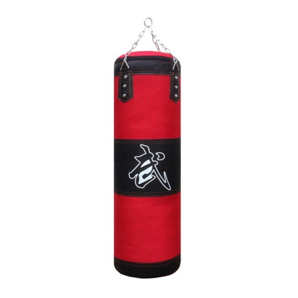 60cm/80cm/100cm/120cm Empty Boxing Sand Bag Hanging Kick Sandbag Boxing Training Fight Karate Sandbag Setwith Gloves Wrist Guard