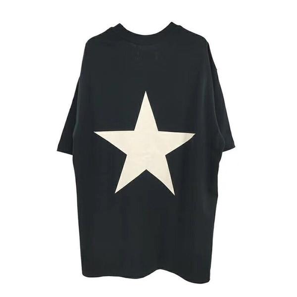 18SS FEAR OF GOD FOG ESSENTIALS Star T Shirt Men Women Summer Street Logo Print Short Sleeves Casual Tee HFTTTX110