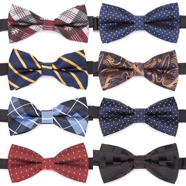Mens Bowtie Jacquard cravatta formale cravatta ragazzo moda uomo d'affari matrimonio banda cravatta vestito camicia maschile regalo