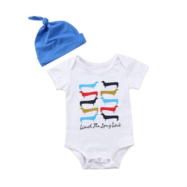 Lovely Dog Summer Children Clothing Cartoon Boys Girls Infant Toddler Newborn Headband Jumpsuit Bodysuit Outfits Lovely Dog Summer Children Clothing Cartoon Boys Girls Infant Toddler Newborn Headband Jumpsuit Bodysuit Outfits