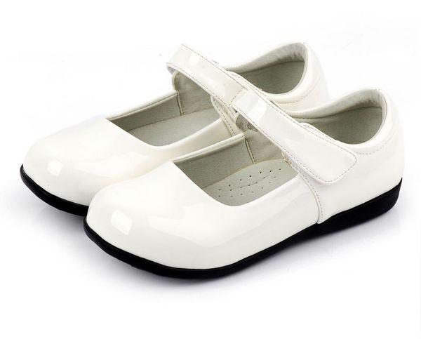 Schöne weiße schwarze Blume Mädchen Schuhe Kinder Schuhe Mädchen Hochzeitsschuhe Kinder Accessoires GRÖSSE 26-37 S321025