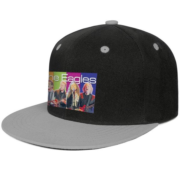 The Eagles Storied band lands Design Hip-Hop Cap Snapback Flat Bill Brim Trucker Hat Crazy Adjustable