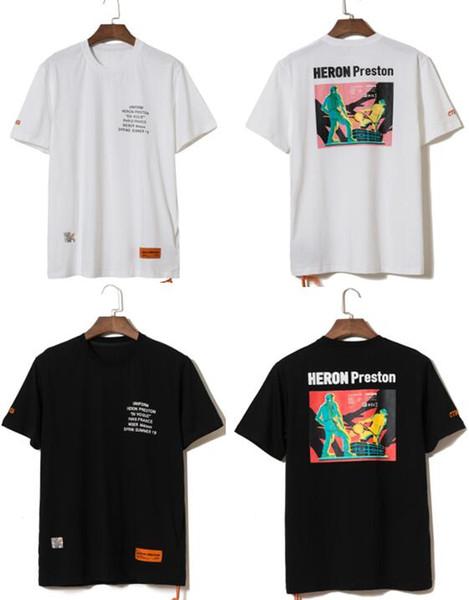 2019ss Heron Preston Nueva colección Impreso Mujer Hombre Camisetas Camisetas 23 estilo S-XL Hiphop Streetwear Hombre Algodón Camiseta de manga corta S-XL