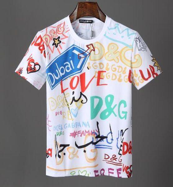 2019 nuevas mujeres de los hombres el amor bb sencilla gc letra impresión del logotipo de la camiseta clásica de la manga corta del O-cuello de la camiseta al por mayor de M-XXXL