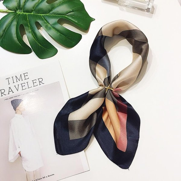 Designer Scarf Summer Twill Silk Scarf for Women Scarves Wraps Bandana Hair Scarf Print Chain Plaid Floral Etc Women Square Silk Scarves