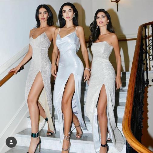 Evening dress Yousef aljasmi Labourjoisie Zuhair murad James_paul7 Column Spaghetti Sleeve White Polyester Split Front/Side Long Dress