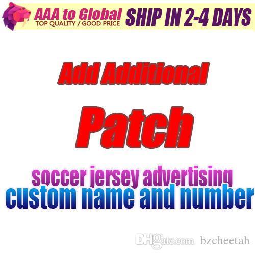 Patch Adicional adicionar o preço adicionar camisa de futebol Publicidade número de identificação personalizado de impressão Fan lembrança