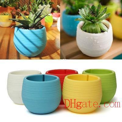 7*7cm Mini Flower Pots Multi Colors Round Plastic Planters Leak Water Hole Design Succulent Plants Garden Pot Hot Sale B