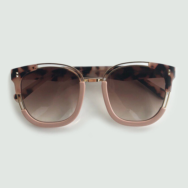2019 Yeni Asetat Çerçeve Hollow Dekorasyon Güneş Kadınlar Klasik Kare Güneş Gözlükleri Açık Gölge UV400 Kadın Gözlük