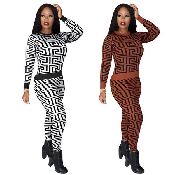 Womens abiti a maniche lunghe 2 pezzi tuta da jogging sportsuit camicia leggings abiti pantaloni felpa vestito di sport klw3003 vendita caldo