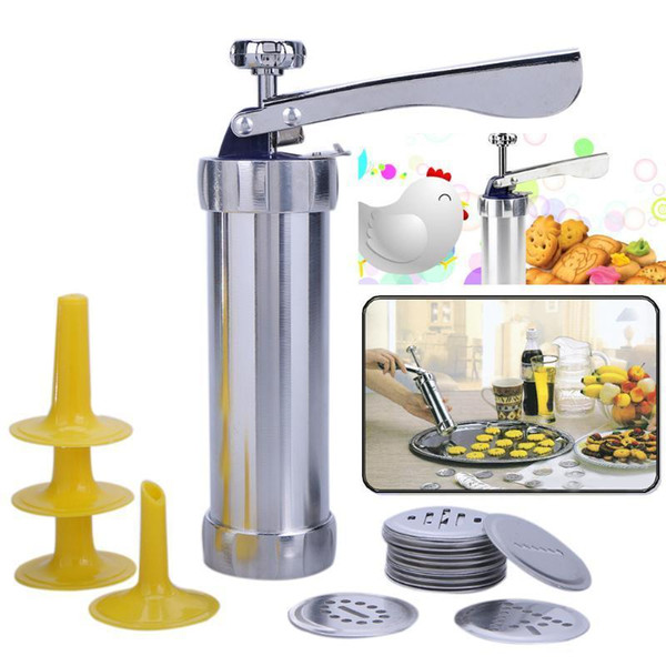 Cookies Press Cutter Baking Tools Manual Cookie Biscuits Press Machine Household Kitchen Tool Bakeware With 20 Cookie Molds