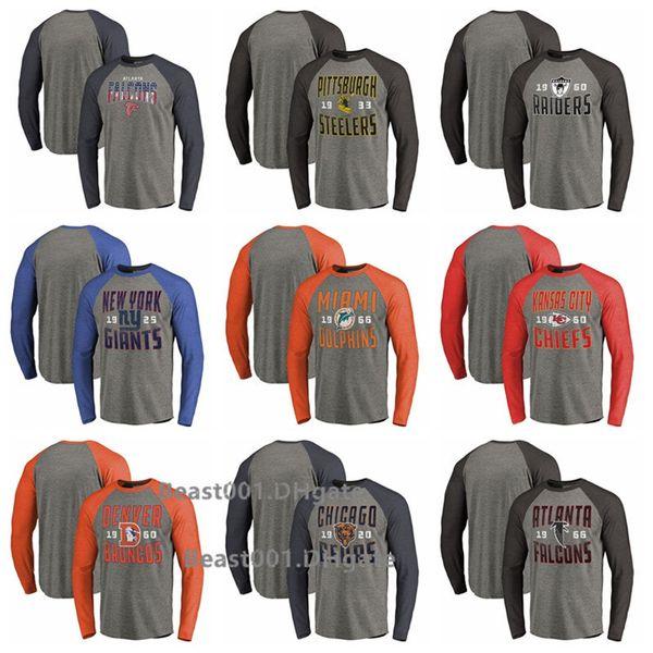Men Falcons Steelers Giants Dolphins Chiefs Broncos Bears Falcons ProLine Fanatics Branded Logo Big Tall Long Sleeve T-Shirt