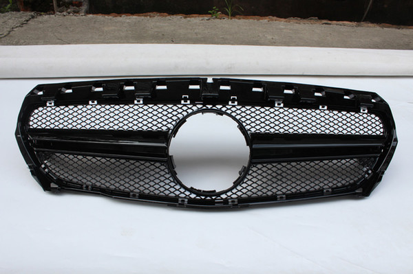 2014-2018 year Mesh Grille For CLA CLASS W117 ABS Material Racing Grille Grills Replacement Front Grille Front Bumper