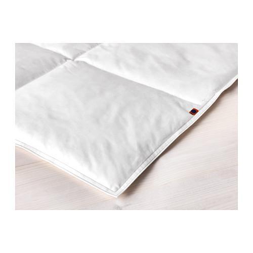 Стеганое одеяло, кулер / одеяла, Заполняющая масса 515 г, 3 размера, Заполнение 90% утиным пухом, 10% утиные перья, Ткань 100% хлопок
