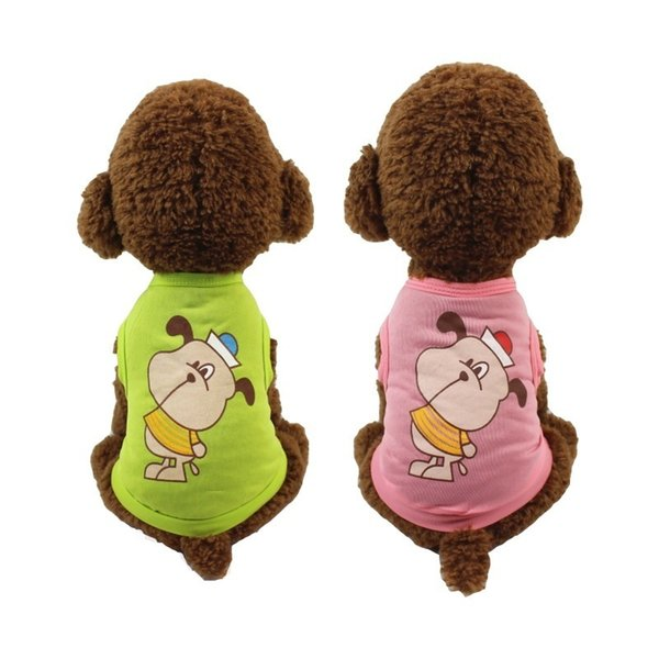 Breathable Dog Shirt Clothes Summer Cooling Pet Vest Pink Green Cute French Bulldog Small Medium Puppies Animal Costumes 6.5