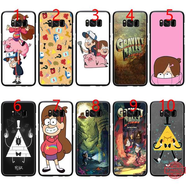 Mabel Gravity Falls Family Art - Weiches schwarzes TPU-Handygehäuse für Samsung Note 9 8 S8 S9 Plus S6 S7 Randabdeckung